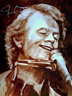 Signed Jim Cuddy Water Colour Portrait