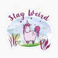 This design is also available on many other items. A cute pink unicorn frolicking in the meadows, it prefers to stay weird Stay Weird, Cute Pink, Mask For Kids, Glossier Stickers, Cotton Tote Bags, Floor Pillows, Magnets, Unicorn, Iphone Cases