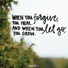 When You Let Go, You Grow - Inspirations