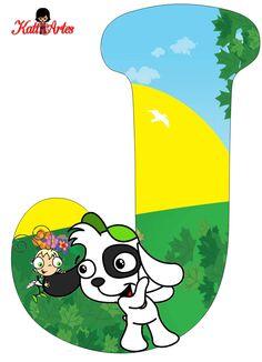 Alfabeto Gratis de Doki.   Oh my Alfabetos! Doki, Letter J, Alphabet Letters, Dog Boarding, Clip Art, Blog, Words, Fictional Characters, Template
