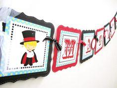 Magic Show Banner for Children Birthday Party Decoration | adorebynat - Seasonal on ArtFire #ckdin