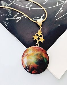 Light Years Away Limited Edition Nebula Locket — Eclectic Eccentricity Vintage Jewellery