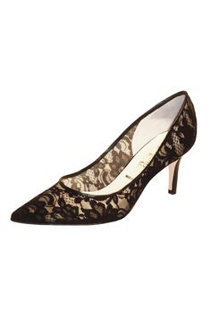 """Black Lace lace pump,can be worn with a suit for daytime or dressed up for any evening affair    Measures: 2"""" heel   Black Lace Pump by Butter. Shoes - Pumps & Heels - Mid Heel Pennsylvania"""