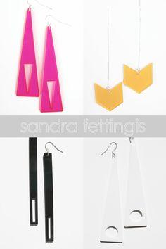 minimal acrylic jewelry by sandra fettingis