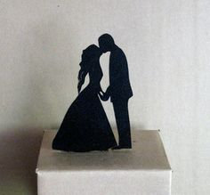 Wedding Cake Topper  First Kiss by Plasticsmith on Etsy, $20.00