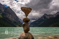 Lake Louise, Canada, 2015 Michael Grab, Balanced Rock, Banff National Park, Rock And Roll, Canada, Landscape, Water, Painting, Travel