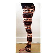 Geometric and Deer Pattern Leggings ($15) ❤ liked on Polyvore featuring pants, leggings, color block, print trousers, print pants, geometric leggings, high waisted leggings and patterned trousers
