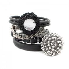 Silver Black I HERSTORY Bangles Set