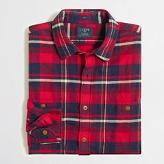 Factory slim plaid flannel shirt : Flannel | J.Crew Factory
