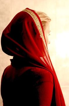 beauty, photography, and girl image#red#veil#red veil#ancient