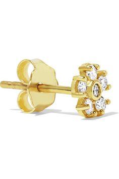 Jennifer Meyer - 18-karat Gold Diamond Earrings - one size