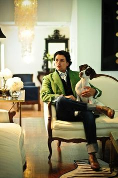 this is how a classy men dresses with green