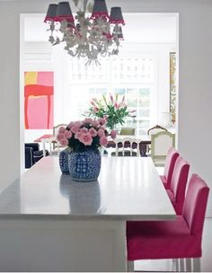 The Pink Pagoda: Pink Upholstery -- Would You?
