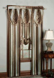 Ombre Semi Sheer Curtains - Chocolate