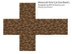 Minecraft dirt block papercraft template
