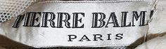 1951 to 52 Pierre Balmain Label Metropolitan of Museum, NY. To see more museum dresses go to www.vintagefashionandart.com.