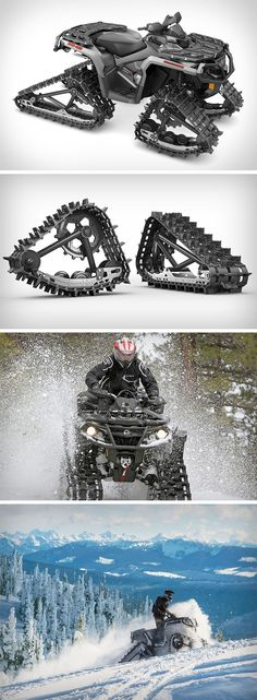 An upgrade on the already established 360 tracks, the Backcountry Track System takes care of the rough terrain, oh, and everything else one could ever encounter along the way. Using two-inch lugs, a 13.5-inch front track, and 14-inch rear track, it offers the highest ground clearance of 20.3″ (51.6cm) keeping the vehicles and you out of the snow, maximum floatation, and outstanding deep snow performance.