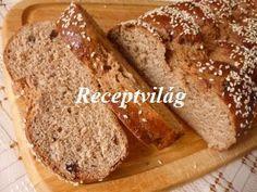 RECEPTVILÁG - Teljes kiőrlésű kalács Banana Bread, Deserts, Food And Drink, Gluten Free, Cakes, Kitchen, Glutenfree, Cooking, Cake Makers