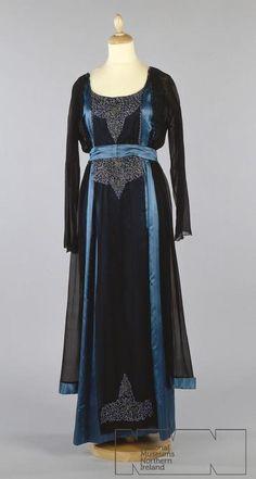 Evening dress, circa 1915, from the Ulster Folk & Transport Museum