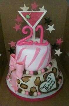 21st Birthday Cakes with Alcohol | 21st birthday cake ideas