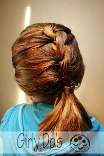 This is great for people who can't french braid! SO easy!