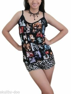 Michael Jackson MJ Pop Rock DIY Sexy Cami Tank Top Shirt