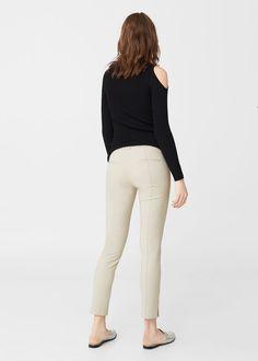 Crop slim-fit trousers | MANGO