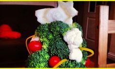 Lo spettacolo multicolor della natura sulla tua tavola di Natale: un alberello tutto veg.