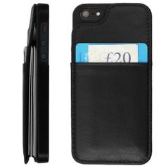 Designed to hold 8 cards, cash, keys or Improved design allows easy access Powerful magnet helps to keep cards secure Separate pocket for your two most frequently used cards Made of genuine premium leather wallet case for you iphone 4 iphone 4s iphone 5, card case, leather case