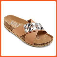 b64d5db2e33f Women s Sam  amp  Libby Amelia Embellished Footbed Sandals - Cognac 7 -  Sandals for women
