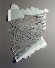 micro zig zag cut design on inside of an envelope