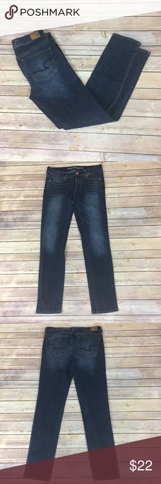 "✨American Eagle Outfitters Skinny Super Stretch✨ Size 4S. 72% cotton 14% polyester 14% viscose 1% elastane. 14.5"" waist laying flat. 8"" front rise, 12"" back rise. 28"" inseam.     💕Need any other information? Measurements? Materials? Feel free to ask! 💕Unfortunately, I am unable to model items!  💕Don't be shy, I always welcome reasonable offers! 💕Fast shipping! Same or next day! 💕Sorry, no trades!  Happy Poshing!☺️ American Eagle Outfitters Jeans Skinny"