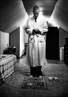 """Malcolm X at prayer in New York City, ca. In the video series Malcolmology, Manning Marable tells us, """" According to The Autobiography of Malcolm X and Spike Lee's movie, Malcolm did not have. Malcolm X, Black Power, Black Art, Imam Malik, Muslim Pray, La Ilaha Illallah, By Any Means Necessary, Black History Facts, African Diaspora"""