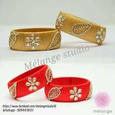 leaf design on bangles