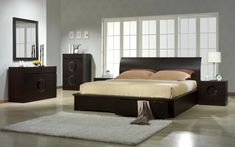 Cool Contemporary bedroom furniture sets stylish modern bedroom sets modern - Elites Home Decor Contemporary Bedroom Furniture Sets, Discount Bedroom Furniture, Modern Furniture, Furniture Design, Modern Beds, Furniture Nyc, Furniture Market, Furniture Ideas, Brown Furniture
