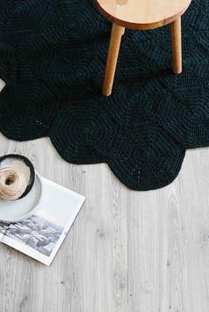 Crochet hex rug