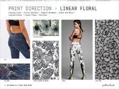 Activewear Print & Pattern Trend Report – Spring/Summer 2017 - Linear Floral