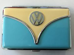 VW Wallet/Business Card Holder-Blue & Tan | Cool VW Stuff here to help the VW community accessorize their VW lifestyle