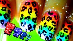 Neon Rainbow Nail Art - Nail art LEOPARD print -How To Nail Polish Easy ...