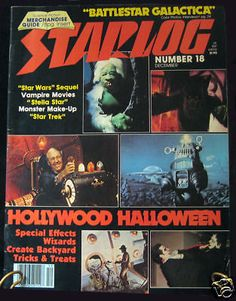 Starlog #18 December 1978 Star Wars Battlestar Galactica Halloween Monsters