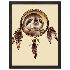 Spirit Sloth Art Print