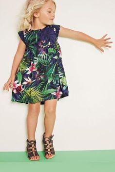 Comprar Vestido azul marino con estampado tropical (3 meses-6 años) online hoy en Next: España