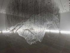 Ethereal Art Installations : reverse of volume rg by yasuaki onishi