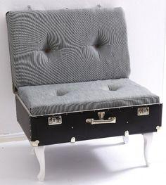 Fertig ist der Vintage-Koffersessel.