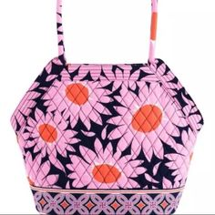 """NWT Vera Bradley Angle Tote in""""Loves Me"""" Pop Color New with Tags Vera Bradley Angle Tote in """"Loves Me"""" Large Tote with a unique design   It's a tote in disguise!  With geometric angles and rolled handles, the Angle Tote is really a stylish handbag.  A roomy interior, a stable, oval base and ample pocket space make the Angle Tote practical, too! 11½"""" x 11½"""" x 6¼"""" with 10"""" strap drop  Two outer angled front pockets keep must-haves at hand Three interior pockets and a zip compartment Wide, oval…"""