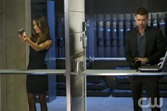 """Nikita -- """" Aftermath """" -- Pictured (L-R): Maggie Q as Nikita Shane West as Michael -- Credit: Sven Frenzel/The CW -- © 2013 The CW Network. All Rights Reserved"""