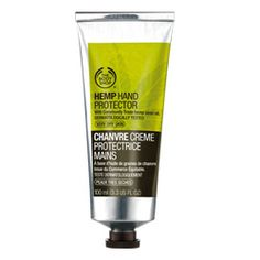 The Body Shop - Hemp Hand Protector. I sold this stuff to nurses, construction workers, you name it. This stuff is like putting a moisture glove on your hand. It will lock in moisture and prevent dryness especially if you wash your hands frequently. You'll be hooked.