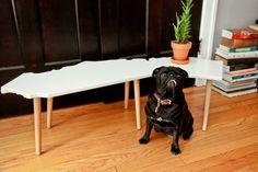 Willameena Mae models the California coffee table