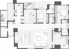開放格局、溫潤質感包覆,塑造現代溫馨大宅