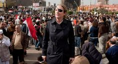 War correspondent Marie Colvin in Cairo last year. Ms. Colvin, who covered many of the Arab uprisings, died after a round of attacks in Syria on Wednesday.